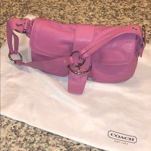 Pink Leather Coach Purse